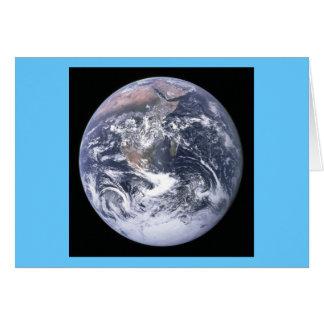 Imagen icónica clásica de la tierra tarjeta de felicitación