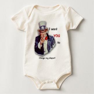 Imagen icónica restaurada del tío Sam Trajes De Bebé