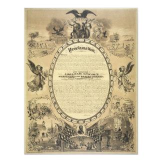 Imagen ilustrada de la proclamación de la anuncio