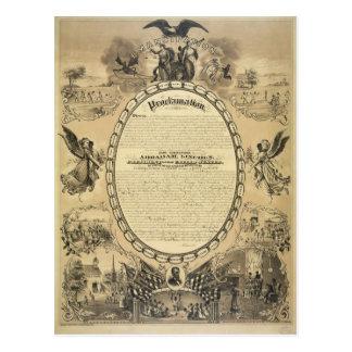 Imagen ilustrada de la proclamación de la tarjetas postales