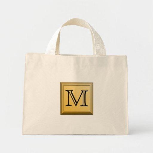 Imagen impresa de un diseño de encargo del monogra bolsas