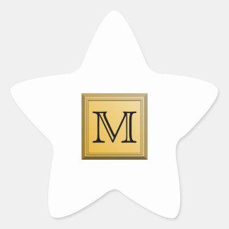 Imagen impresa de un diseño de encargo del pegatina en forma de estrella