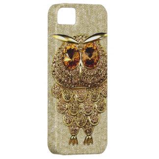 IMAGEN IMPRESA del oro y de la joya ambarina del b iPhone 5 Case-Mate Cobertura
