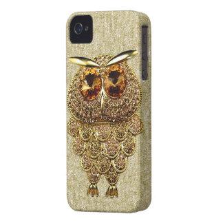IMAGEN IMPRESA del oro y de la joya ambarina del Case-Mate iPhone 4 Cobertura