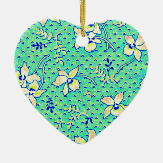 Imagen impresionante de la tela de Feedsack del Adorno Navideño De Cerámica En Forma De Corazón