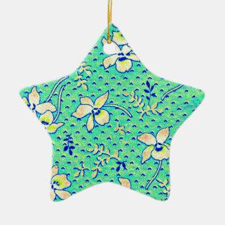 Imagen impresionante de la tela de Feedsack del Adorno Navideño De Cerámica En Forma De Estrella