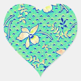 Imagen impresionante de la tela de Feedsack del Pegatina En Forma De Corazón