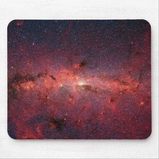 Imagen infrarroja de la galaxia de la vía láctea tapetes de raton