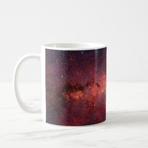 Imagen infrarroja de la galaxia de la vía láctea tazas de café