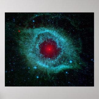 Imagen infrarroja de la nebulosa de la hélice poster