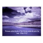 Imagen infrarroja del río Scenics con el cielo dra Tarjeta Postal