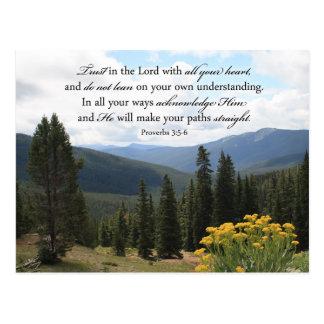 Imagen inspirada de la biblia de la foto cristiana tarjetas postales