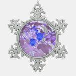 imagen invertida de las flores de las hojas azules adorno