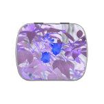 imagen invertida de las flores de las hojas azules jarrones de dulces