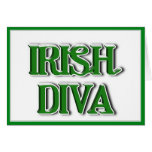 Imagen irlandesa del texto de la diva tarjeta