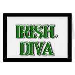 Imagen irlandesa del texto de la diva tarjetas