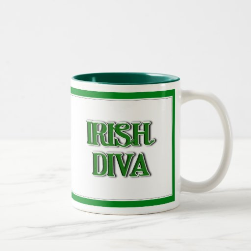 Imagen irlandesa del texto de la diva taza de café