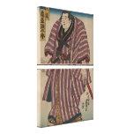 Imagen japonesa del arte del vintage - luchador de impresiones en lona