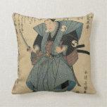 Imagen japonesa del vintage del actor en papel del almohadas