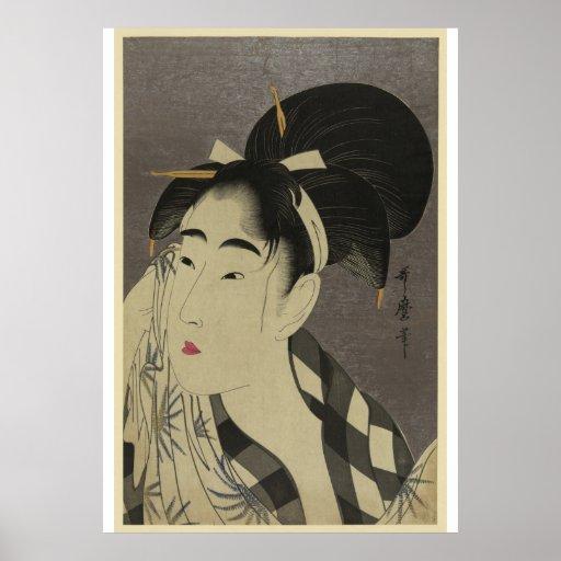 Imagen japonesa del vintage - pre poster de los 19