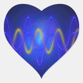 Imagen ligera pegatina en forma de corazón