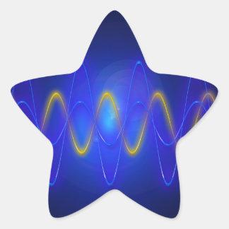 Imagen ligera pegatina en forma de estrella