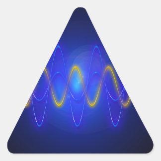 Imagen ligera pegatina triangular