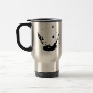 Imagen linda del hurón taza de café