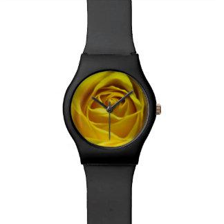 Imagen macra magnífica del rosa amarillo relojes
