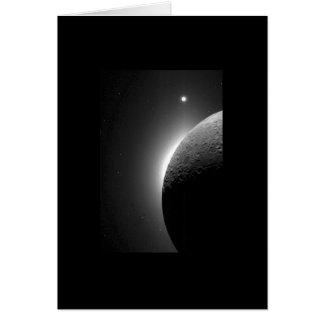 Imagen magnífica de la luna y de Venus Tarjeta De Felicitación