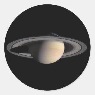 Imagen maravillosa de Saturn de la NASA Pegatina Redonda