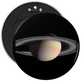 Imagen maravillosa de Saturn de la NASA Pin Redondo De 6 Pulgadas