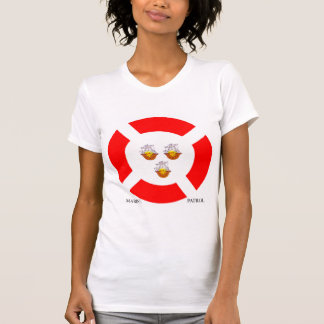 Imagen marina para la camiseta de las mujeres