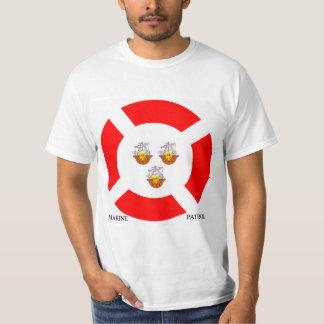 Imagen marina para la camiseta de los hombres