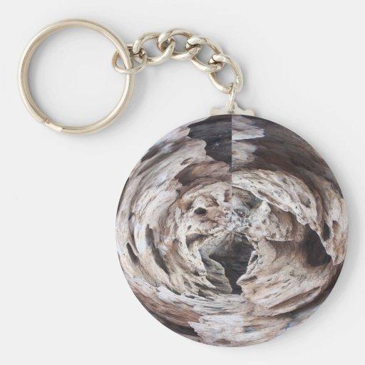 Imagen marrón gris del diseño del caleidoscopio de llavero