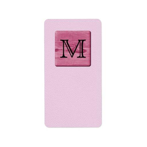 Imagen modelada rosa, con la letra de encargo del  etiqueta de dirección