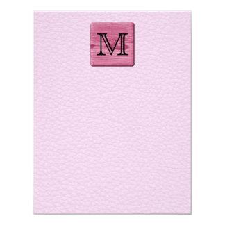 Imagen modelada rosa, con la letra de encargo del