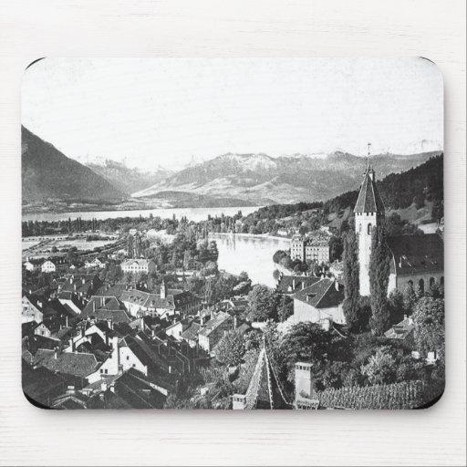 Imagen Mousepad de las montañas de Bernese del vin