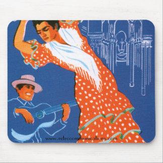 Imagen Mousepad del viaje del español del vintage Tapetes De Ratón