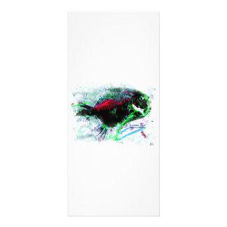 Imagen negativa colorida de un pescado secado tarjeta publicitaria personalizada