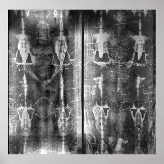 Imagen negativa de la foto de la cubierta de Turín Póster