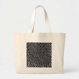 Imagen negra redonda bolsa de tela grande