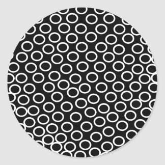 Imagen negra redonda pegatina redonda