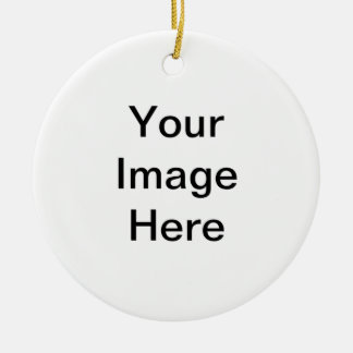 Imagen o texto de encargo adorno redondo de cerámica