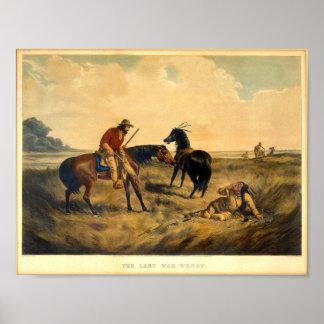 Imagen occidental del vintage el poster pasado del