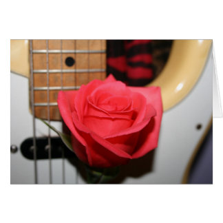 Imagen pálida color de rosa rosada de la música de tarjeta pequeña