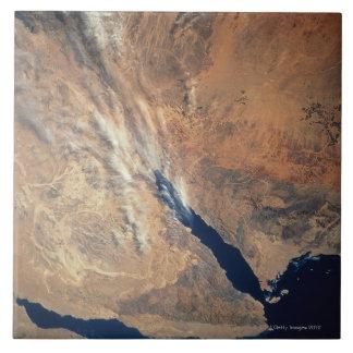 Imagen por satélite de la tierra azulejos ceramicos