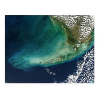 Imagen por satélite de las llaves de la Florida Tarjetas Postales