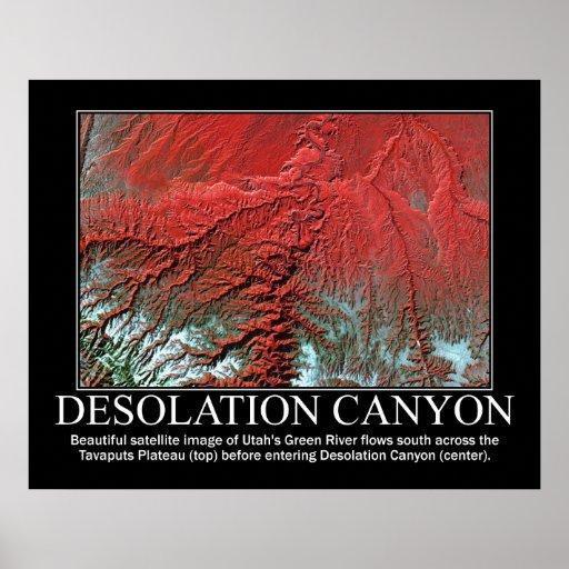 Imagen por satélite del barranco de la desolación poster