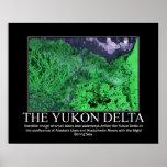 Imagen por satélite del delta del Yukón Poster